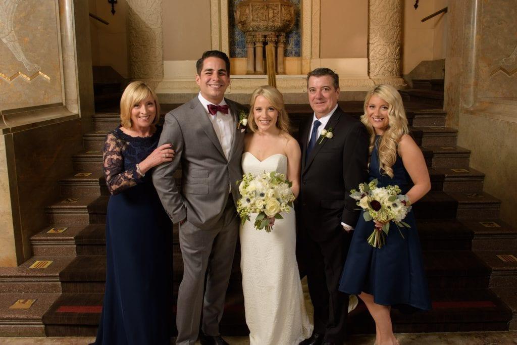 intercontinental hotel chicago family wedding portrait