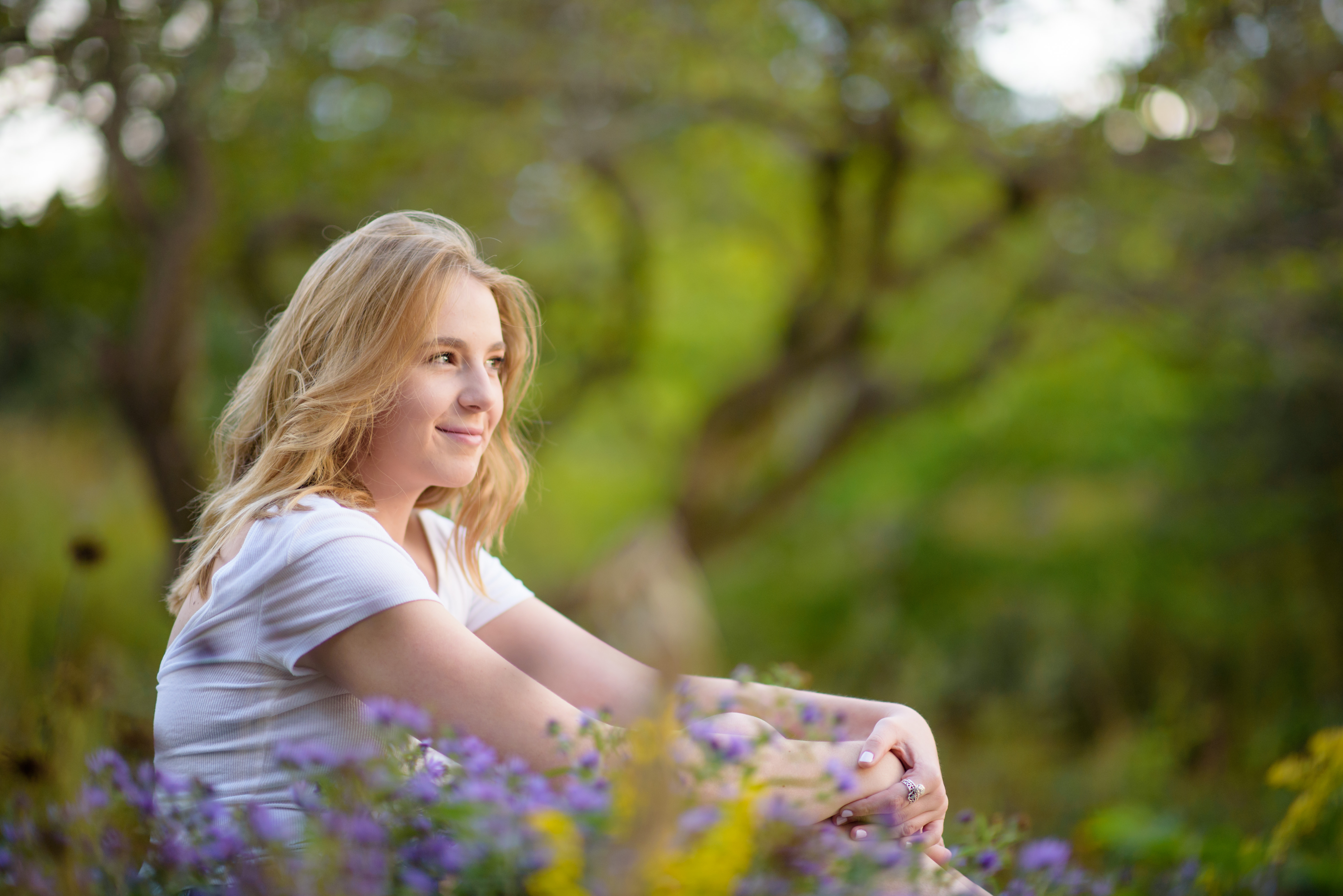 High School Senior sitting Portrait Independence Grove Libertyville
