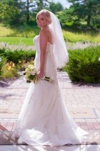 Bride full length dress the Glen Club Glenview
