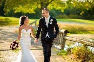 Bride Groom Bull Valley Golf Club walking