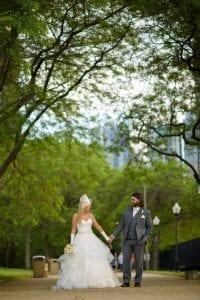 Bride Groom Milton Lee Olive Park Trees Chicago