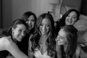 Bride group photo