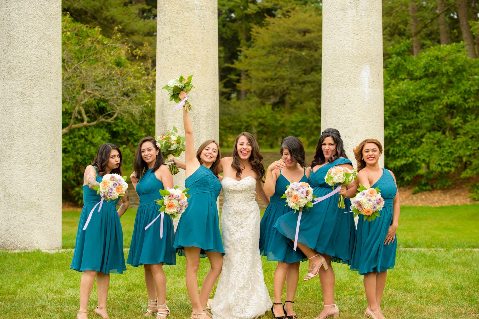 Bridesmaids Morton Arboretum 4 Columns