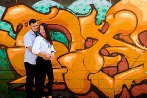 Chicago Engagement Orange Graffit