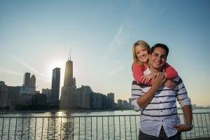 Chicago Engagement Milton Lee Olive Park Skyline