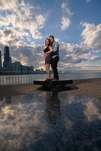 Chicago Engagement Milton Lee Olive Park Clouds