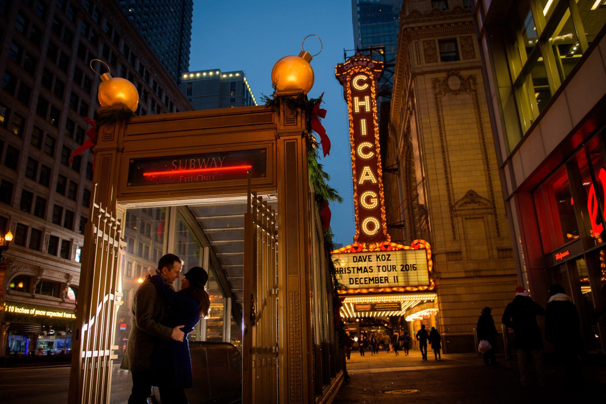 Chicago Engagement Subway Entrance Theatre