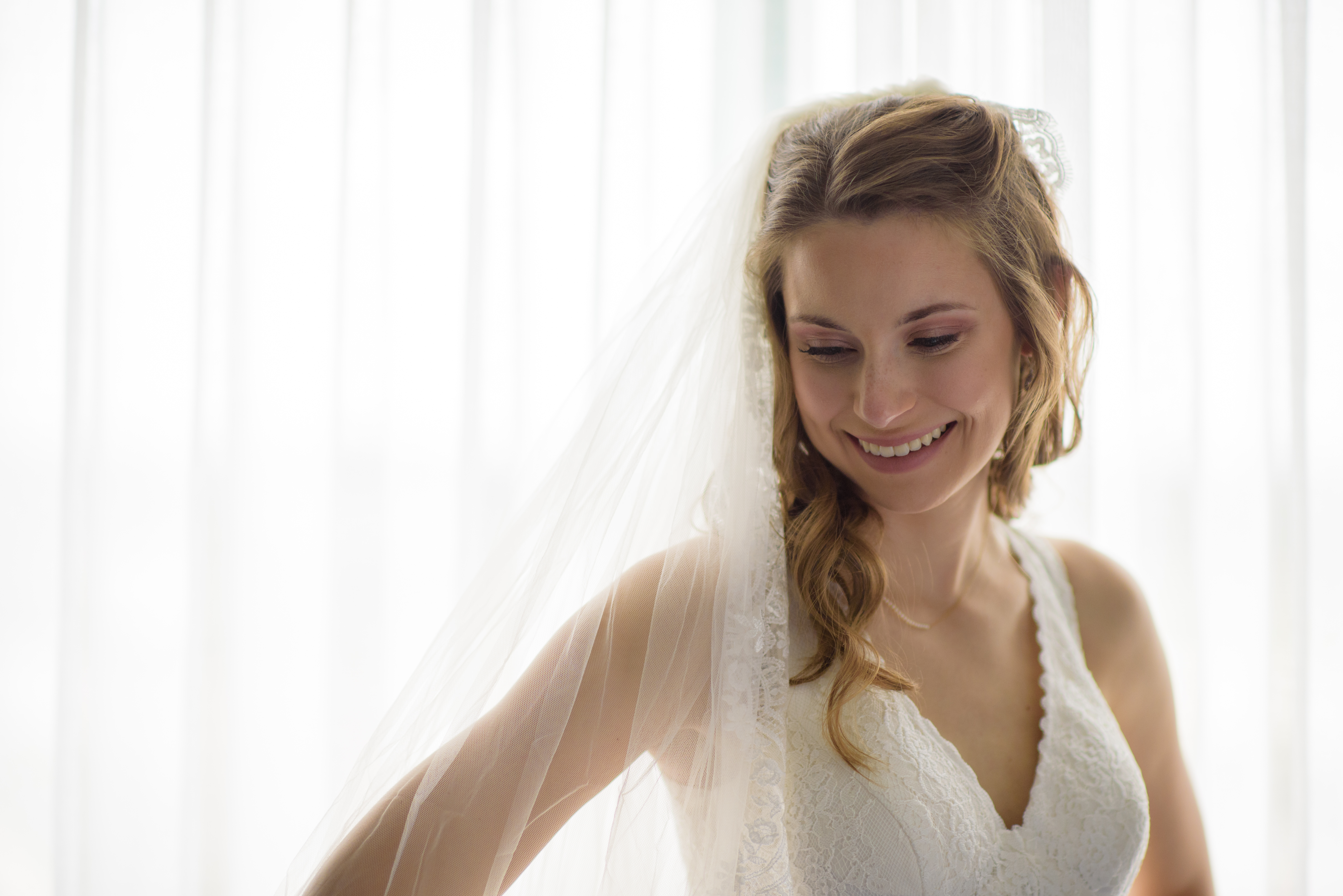 Embassy Suites Lombard Bride Smile