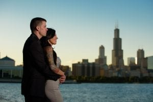 Engagement Chicago Lakeshore Skyline